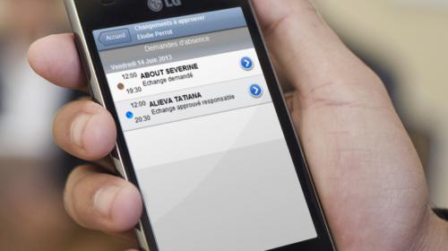 Photo page CONCEPT – Ecran d'approbation des demandes d'échange – TimePlus – planification optimisée