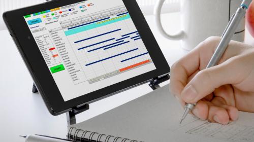 Planning horizontal Timeplus, planification optimisée – mode Saas disponible sur ordinateurs et mobiles